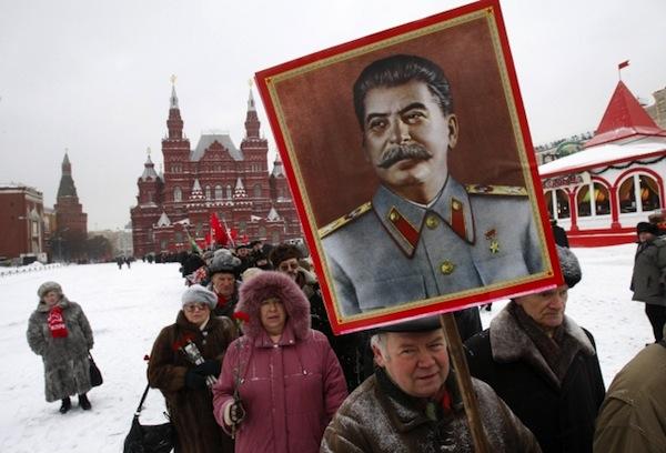 Rudé náměstí, plakát J.V. Stalin